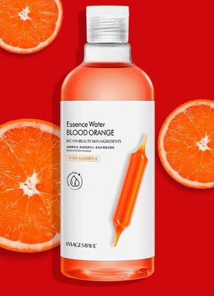 Тонер для обличчя з екстрактом червоного апельсина images essence water blood orange (500мл)