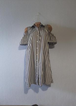 Модное платье-рубашка на пуговицах