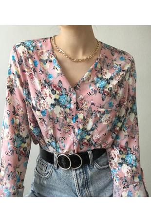 Супер нежная стильная блуза в цветочный принт🌸