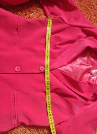 Пиджак розовый шикарный3 фото