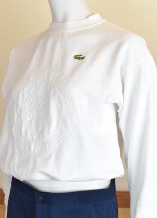 Lacoste chemise винтажный свитшот кофта оригинал с логотипом sha11