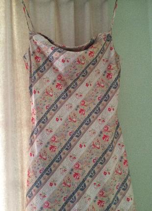 Платье-комбинация-слипп стильное нежное длина миди