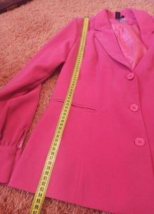 Пиджак розовый шикарный5 фото