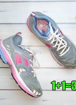 💥1+1=3 фирменные женские серо-розовый кроссовки karrimor, размер 39