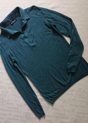 Элегантный свитерок с воротником mc kenzy/легкий джемпер из тонкой шерсти + 30%шелк