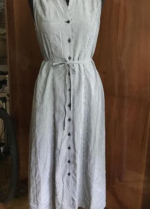 Платье клетка виши на пуговицах с поясом длинное платье в клетку