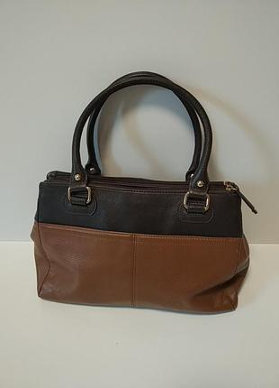 Кожаная сумка. tignanello