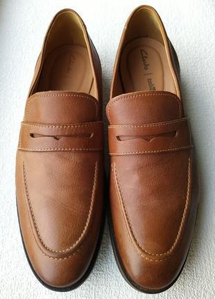 Туфли лоферы clarks англия.