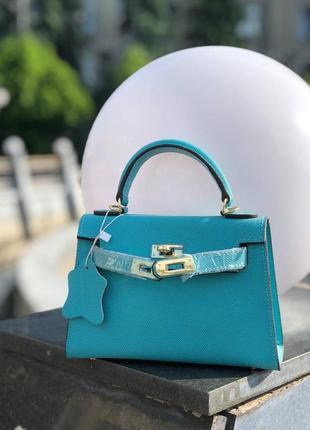 Кожаная сумка в стиле hermes kelly '22см гермес келли