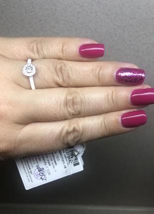 Кольцо серебро+керамика1 фото