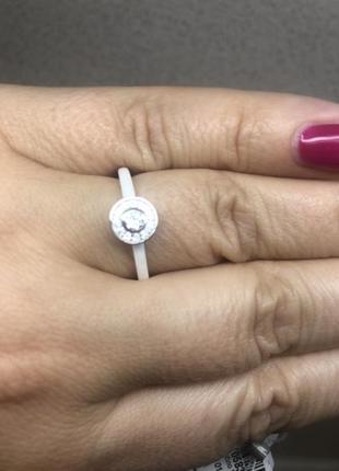 Кольцо серебро+керамика2 фото