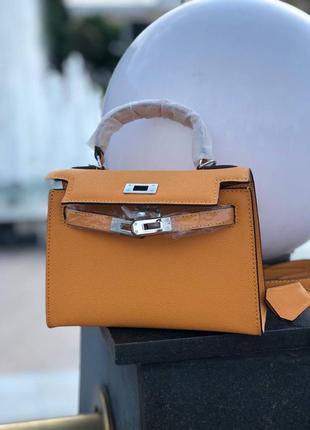 Кожаная сумка в стиле hermes kelly '22см гермес келли  ⠀