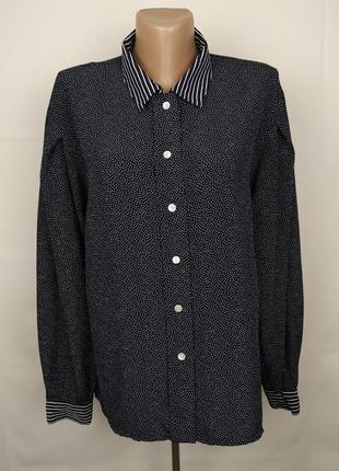 Блуза рубашка оригинальная стильная uk 12/40/m