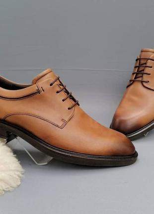 Ecco классические кожаные туфли р. 45