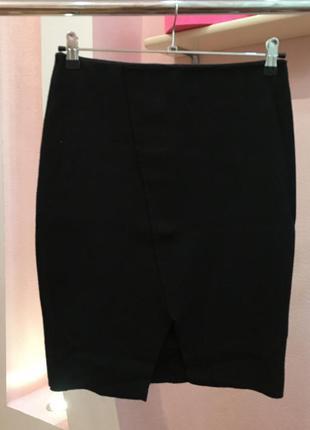 Черная прямая юбка stradivarius