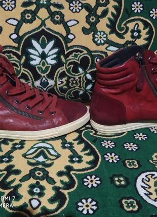 Кожаные  ботинки. размер 40.