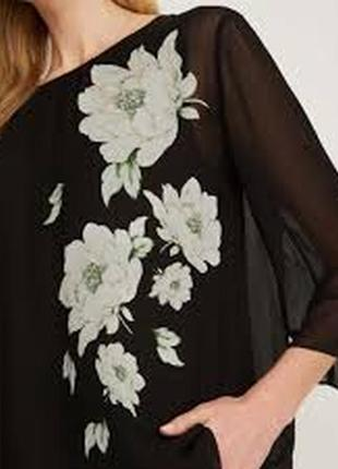 Блуза лаура эшли laura ashley wisley с пионами размер m6 фото