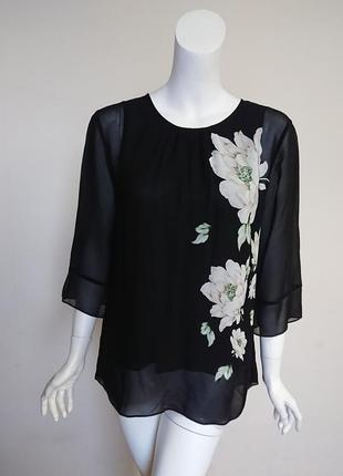 Блуза лаура эшли laura ashley wisley с пионами размер m1 фото