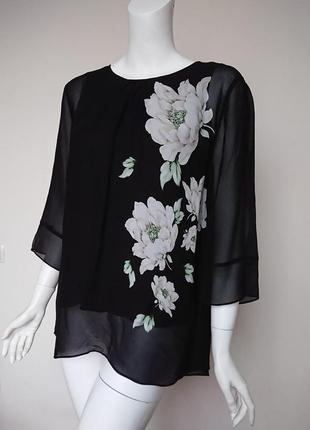 Блуза лаура эшли laura ashley wisley с пионами размер m2 фото