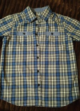 Рубашка летняя f&f 9-10лет