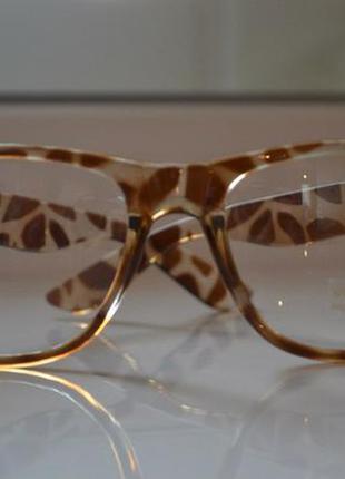 Имиджевые очки нулевки в леопардовой оправе в наличии