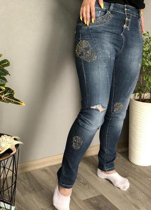 Новые женские джинсы в стиле phillip plein s