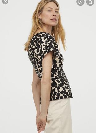 Блузка с рукавом-фонариком