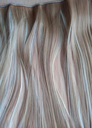 Трессы, волосы на заколках одиночная прядь, накладные волосы
