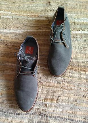Мужские туфли р.45 натуральная замша серые