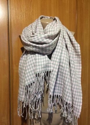 Большой тёплый палантин,шарф в пастельных тонах!