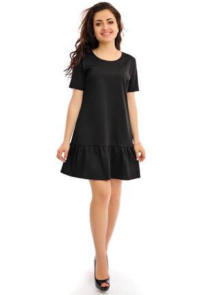 Платье черное, с воланом внизу george