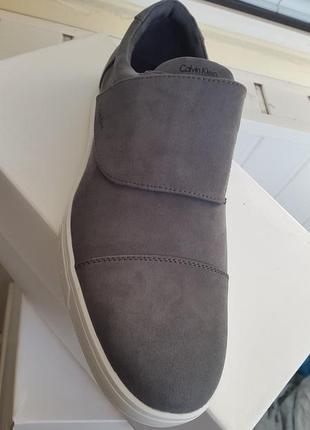 Calvin klein  оригинал 47 ( по стельке 31 см.) новые замшевые туфли кожа