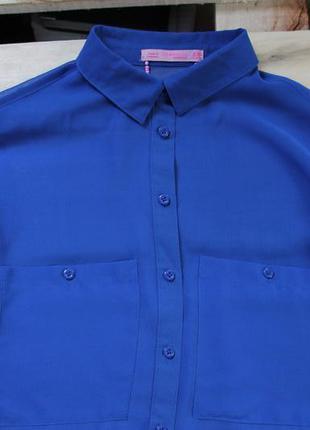 Рубашка s xs блузка синяя bershka сорочка блуза свитер шифон кофта кардиган прозрачная
