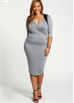Плаття платье сукня міді h&m стрейч 48-52 xl