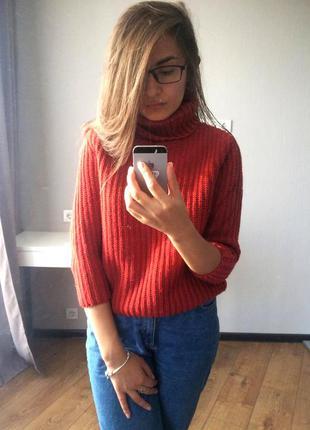 Укороченный теплый свитер atmosphere