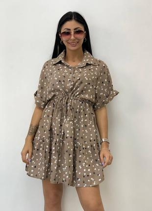 Платье зефирка девчачье летнее