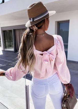 Блуза с открытой спиной лешкая и воздушная3 фото