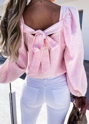 Блуза с открытой спиной лешкая и воздушная2 фото