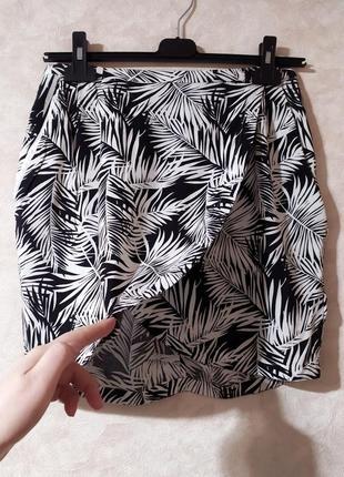 Летняя юбка на запах, h&m, m-l
