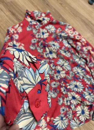 Рубашка принт, цветочный принт, блуза