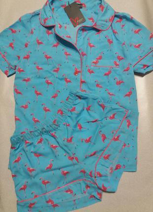Пижамка рубашка и шорты
