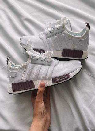 Кроссовки adidas nmd white/purple