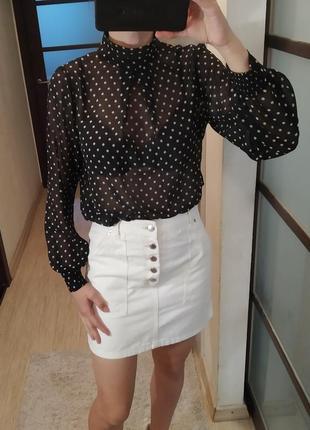 Блуза блузка в горошек dorothy perkins.