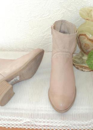 Стильные ботиночки пудрового цвета 36 р. германия, кожа.