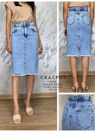 Джинсовая юбка cracpot турция
