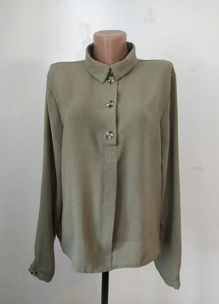 Стильная блузка _цвет хаки