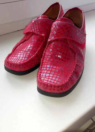 100% кожаные туфли! ортопедическая - противошоковая подошва!