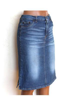 Джинсовая юбка от stradivarius, идеальное сост.