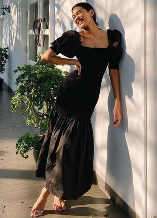 Шикарное поплиновое платье коттон