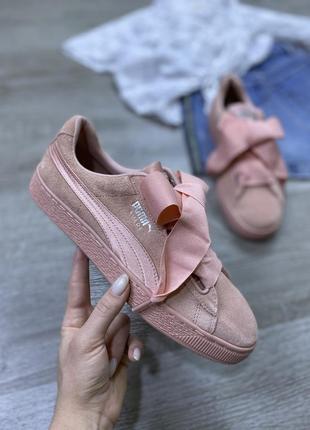 Великолепные кроссовки с бантами puma suede